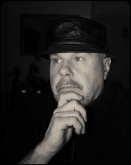 Serious thoughts. . . (CWhatPhotos) Tags: camera photographs photograph cwhatphotos pictures that photography foto image artistic pics picture pic images have fotos which contain digital four olympus thirds portrait man male me look self goatee eyes serious thinking ponder flickr