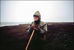 The Amber Man - Fuji Velvia 100 (magnus.joensson) Tags: sweden swedish måkläppen shore beach winter december amber questioners fujica st605 fujinon ebc 35mm fuji velvia 100 exp e6 phototrip04