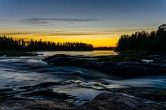 Koitelinkoski by night (Arttu Uusitalo) Tags: summer midnight sunset dusk blue hour landscape river riverside flow rapids koitelinkoski kiiminkijoki north ostrobothnia finland july night nikon d7000 twilight