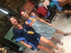 posing with Cynthia (1) (Olive Witch) Tags: mexico january fem jan20 pair abeerhoque restaurant geo day outdoors place melbday tulum 2020