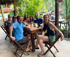 Sean, Payo, Paul, Adam, Julie, Roger, and Channing (Olive Witch) Tags: mexico january place outdoors abeerhoque restaurant geo group day 2020 melbday jan20 tulum