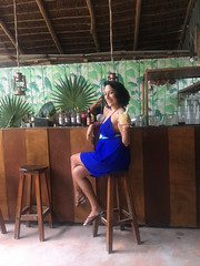 Melissa at the bar (Olive Witch) Tags: mexico january fem jan20 2020 abeerhoque restaurant geo day outdoors place melbday tulum bar