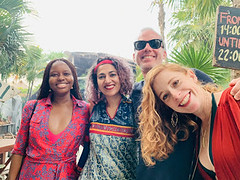 with Adam, Brendan and Renee (Olive Witch) Tags: mexico january place outdoors abeerhoque restaurant geo group day 2020 melbday jan20 tulum