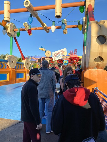 It's never too early to visit Slinky Dog!