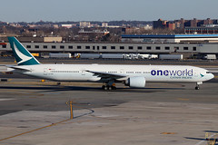 B-KQM | Boeing 777-367ER | Cathay Pacific (Oneworld) (cv880m) Tags: newyork aviation jfk kennedy airliner johnfkennedy kjfk airplane airport aircraft airline boeing 777 cathay spotting cathaypacific jetliner 773 planespotting cpa 777300 777367 bkqm china asia oneworld triple7 tripleseven swire cathaypacificairways hingkong brushwing