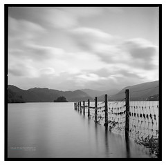 E_Derwent_Water_DELTA_03 (D_M_J) Tags: lake district derwent water lakedistrict lakeland cumbria uk england north west landscape long exposure lee filters 10 stop big stopper film camera medium format 6x6 square 120 roll hasselblad 500 500cm cm ilford delta 100 pro kodak hc110 epson v850 vuescan black white blackandwhite bw mono monochrome