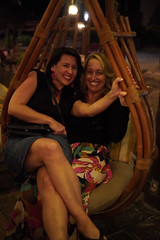 Melissa and Drea (Olive Witch) Tags: mexico night january fem jan20 pov abeerhoque restaurant geo indoors pair place melbday tulum 2020