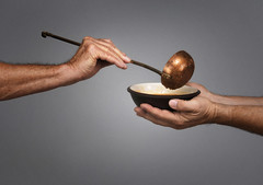 Feed the World (mary beth30) Tags: food service feeding soup poor society welfare compassion stewardship discipleship famine hunger hungry ladle hands man men serving program soupkitchen soupline homelessness destitution helping love brotherhood