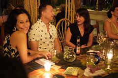 Melissa, Chris, and Melissa (Olive Witch) Tags: mexico night january jan20 pov abeerhoque restaurant geo indoors group place melbday tulum 2020