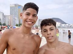 Happy boys (alobos life) Tags: happy players smile copacabana nice beautiful cute brazilians boys garotos rio de janeiro brasil brazil beach playa friends