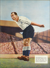 Football for Surrealists. (1950) (Dave Whatt) Tags: football surrealism 1950 footballparade illustration tintedcolour hovering strange expression