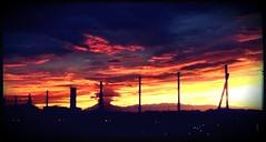 Goodbye today (nikoge) Tags: 空 夕焼け 光 sunset オレンジ 橙 雲 夜 night coth 紫 purple coth5