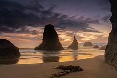 Bandon, Oregon (jeff's pixels) Tags: bandon oregon pnw coast pacificnorthwest pacific beach seastack ocean water or night sunset