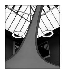 observation (Armin Fuchs) Tags: arminfuchs lavillelaplusdangereuse würzburg universityofmusic 6x7 niftyfifty lamp ceiling glass diagonal sail windows architecture