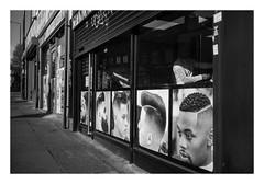 FILM - California (fishyfish_arcade) Tags: 35mm analogphotography bw blackwhite blackandwhite canonsureshotmax delta400 filmphotography filmisnotdead istillshootfilm monochrome analogcamera compactcamera film ilford mono streetphotography barbers barbershop hairdressers