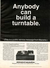 Marantz straight line tracking turntable 1968 (Nesster) Tags: vintage stereo hifi magazine print ad advert advertisement october 1968 hifistereoreview