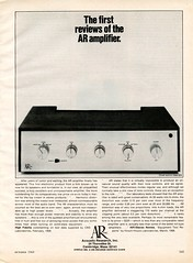 The AR Amplifier 1968 (Nesster) Tags: vintage stereo hifi magazine print ad advert advertisement october 1968 hifistereoreview ar acousticresearch