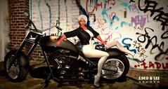 "Chic Biker Chick"" (Fay Carolina) Tags: ppd lumipro idk dvaidheather andrea cocomagic whitefayriefay leeloomilla artycreations maitreya catwa bento eternalsin leatherjacket cocoleestudio"
