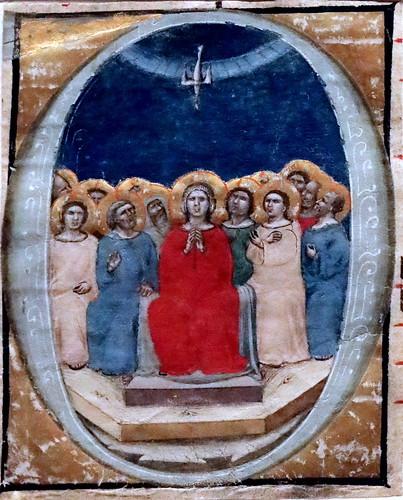 IMG_9339 Miniatures de Bologne  ca 1330-1350 Annonciation. Pentecôte, Assomption de la Vierge. Sainte Trinité (?) Résurrection  Ferrara Pinacoteca Nazionale