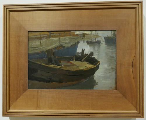 """""""Barcos, puerto de Valencia"""", 1903, Joaquín Sorolla y Bastida (1863-1923), Musée des Beaux-Arts, Bilbao, Biscaye, Pays basque, Espagne."""