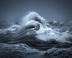 Turmoil (willblakeymilner) Tags: nikon storm waves ocean water mood spray wet wind drama atmosphere ciara uk england coast seascape sea