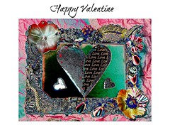 valentines (Sonja Parfitt) Tags: frame made jewelry manipulate colors heart love