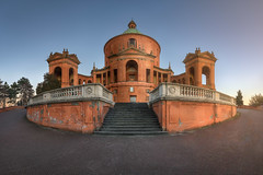 Panorama of Sanctuary of the Madonna di San Luca, Bologna, Italy (ansharphoto) Tags: ancient antique arch architectural architecture basilica blue bologna building cathedral catholic christian christianity church city column dome dusk emilia emiliaromagna europe european evening facade hill historic history italia italian italy landmark luca luke madonna medieval monument old pilgrims religion romagna sacred saint san sanctuary sky temple tourism town travel urban