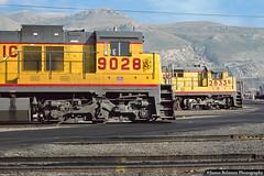 GE Generations (jamesbelmont) Tags: locomotive railway railroad train missouripacific unionpacific northyard utah saltlakecity u30c c367 ge generalelectric