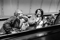 A Hurried Chat (evans.photo) Tags: talking haste rushing escalator london candid people londonunderground tubestation