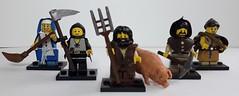 peasants (krisdecatte) Tags: lego custom medieval minifigurines peasants