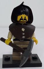 GAETAN THE PEASANT (krisdecatte) Tags: lego custom medieval minifigurines peasants