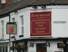 English Pub Sign - The Blind Beggar, Crewe (big_jeff_leo) Tags: sign design pubsign publichouse pub england cheshire streetart street