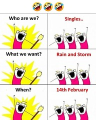 Rain and storm on 14th February (gagbee18) Tags: aww funny funnymemes love lovers memes rain storm valentineday