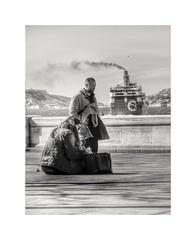 Le départ. (streetspirit13) Tags: boat ferry marseille bw bnwphotographer bnwdemands bnwphotography bnw blancoynegro noiretblanc blackandwhite canonfrance capturestreet