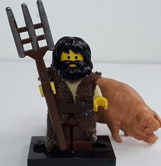 BRAN THE PIGFARMER (krisdecatte) Tags: lego custom medieval minifigurines peasants