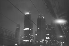 cyberpunk (dolce toupet) Tags: 35mm skyscraper night bw fog cyberpunk noir moscow