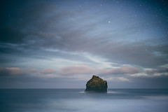 Lonely Rock (Kristján U. Kristjánsson) Tags: iceland reykjanes peninsula rock ocean longexposure tectonic plates earthquake eruption canon 5dsr sigma 5014art