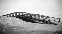 Photo of Bridge for the amphibious DUKW also known as Duck to cross the Pebble Ridge, Westward Ho! 1956.
