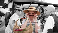 Viewtiful. June 2019 (Simon W. Photography) Tags: gcrloughborough1940sweekend gcr 1940swartimeweekend loughborough leicestershire eastmidlands 1940sweekend wartimeevent wartimeevent2019 vintagefestival victoryrolls hairstyle armedforces nostalgic nostalgia fashion vintage festival retro ww2 1940svintage livinghistory history historic war wwi wwii people person mature groupshot crowd face women couple girls girl woman lady ladies female feminine females candid style sonyrx10iv sonyrx10m4 sonyuk sony sonydscrx10m4 sonyflickraward