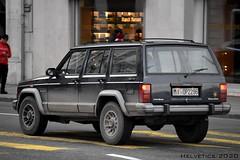 Jeep Cherokee - Italy, Milan (Helvetics_VS) Tags: licenseplate italy milano oldcars jeep cherokee