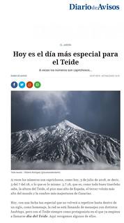 Publicación en el periódico Diario de Avisos