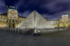 Glass Pyramid (wes_f_hunt) Tags: palace louvre paris france museum famous travel destination architecture history lights night city building sky blue colour long exposure nikon d800