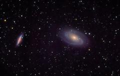 Bode's Galaxy and Cigar Galaxy Reprocess (jraskett) Tags: deep space galaxy messier m81 m82 cigar bodes