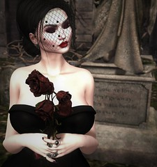Those we Love don't go Away, they Walk Beside Us Everyday (Miru in SL) Tags: second life sl mesh makeup omega appliers bom genus freya leluck the darkness event gothic