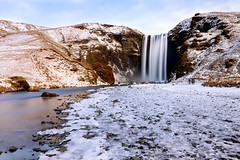 Skogafoss, Iceland (tonyg1494) Tags: tonygong photography nation outside water sky white light snow clouds winter landscape lake river skogafoss iceland