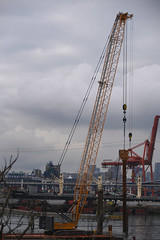 Crane Liebherr LR 1300 (D70) Tags: crane liebherr lr 1300 machine grandviewwoodlands vancouver britishcolumbia canada replacing pile greenhat
