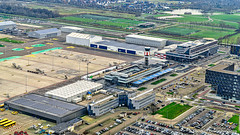 Rotterdam, Netherlands: Rotterdam-The Hague Airport (nabobswims) Tags: aerialphotography airport hdr highdynamicrange ilce6000 lightroom mirrorless nl nabob nabobswims netherlands nieuwemaas photomatix river rotterdam sel18105g sonya6000 zuidholland