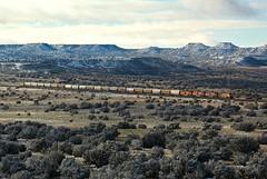 BNSF Springerville Sub (fey96) Tags: bnsf freighttrain trains arizona landscapes mountains southwest railroads railways