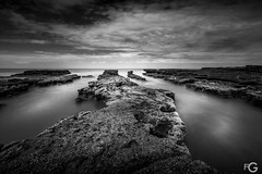 Untitled (Fernanda Gimenez - Time and Light) Tags: blackandwhite bnw seascape monochrome pacific patagonia argentina sky sea waves clouds