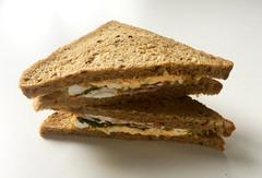 Egg Bacon Sandwich (JaBB) Tags: sandwich breakfast bacon schinkenspeck ei egg eier eggs salat salad frühstück food essen nahrung nahrungsmittel cityfarming